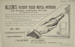 Advert For James Allen's Bottle Openers